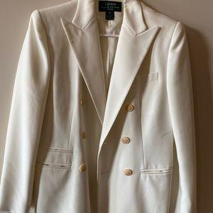Vintage cream Ralph Lauren longline blazer